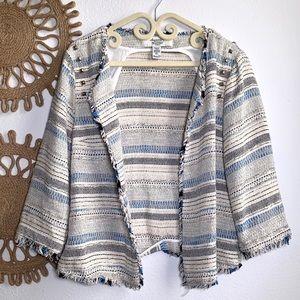 American Rag Tweed Blazer Large 3/4 Sleeves